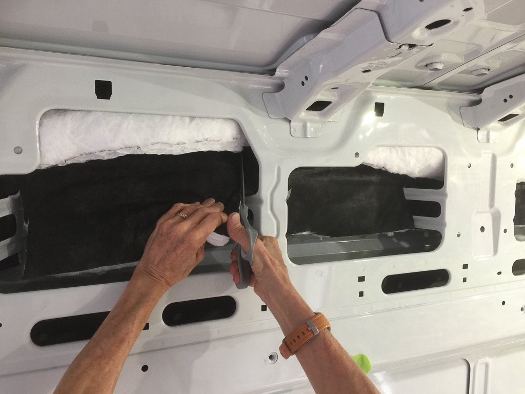Insulating the van with Thinsulite